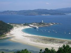 Playa de Rodas, islas Cíes.Galicia - España.