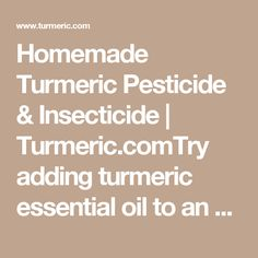 Tips for Making Your Own Natural Pesticides & Insecticides Turmeric Essential Oil, Essential Oils, Natural Pesticides, Fruit Flies, Chinese Cabbage, Wipe Out, Organic Farming, Skin Cream, Pest Control