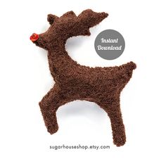 Rudolph the RedNosed Reindeer  Individual by SugarHouseShop