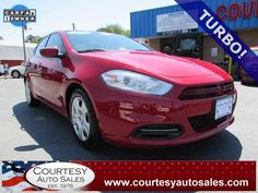 2013 DODGE DART -- SUPER CLEAN 1-OWNER With ONLY 42,216 MILES! -- TURBO! -- Up To 34 MPG! -- INCLUDES REMAINDER OF Factory Drive-Train WARRANTY! -- CALL TODAY! * 757-424-6404 * FINANCING AVAILABLE! -- Courtesy Auto Sales SPECIALIZES In Providing You With The BEST PRICE On A USED CAR, TRUCK or SUV! -- Get APPROVED TODAY @ courtesyautosales.com * Proudly Serving Your USED CAR NEEDS In Chesapeake, Virginia Beach, Norfolk, Portsmouth, Suffolk, Hampton Roads, Richmond, And ALL Of Virginia SINCE…