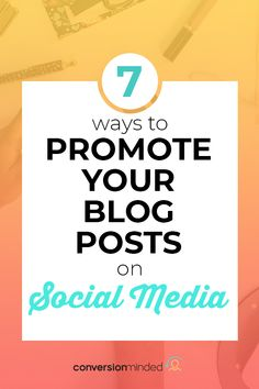 Once you've written a blog post, social media is the best place to promote it. This post shows you 7 ways to promote your blog posts on every social media platform including Facebook, Instagram, and more! Get this content marketing strategy started today for a growth in your blog traffic. #ContentMarketingStrategy #SocialMediaStrategy #PromoteyourBlogPost #SocialMedia #ConversionMinded Content Marketing, Online Marketing, Social Media Marketing, Business Marketing, Digital Marketing, Social Media Content, Social Media Tips, Twitter Tips, Blogging For Beginners