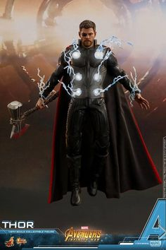 """Avengers: Infinity War - Thor by Hot Toys Ancora una nuova action figure tratta dal film """"Avengers: Infinity War"""" della Marvel, questa . Marvel Avengers, Marvel Fan, Marvel Heroes, Marvel Comics, Marvel Infinity, Avengers Infinity War, Final Fantasy, Super Anime, Die Rächer"""