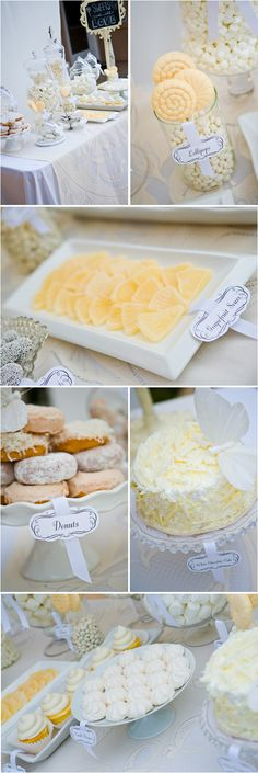 White Sugar Dessert Bar via Project Wedding