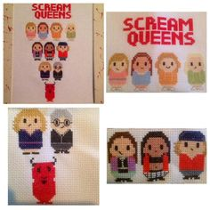 Me version of a little scream queens fan art  @screamqueens #ScreamQueens #CrossStitch - @LUV2STITCH4U