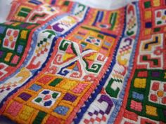 Detail of embroidery from village Pata, Považie region, Western Slovakia.