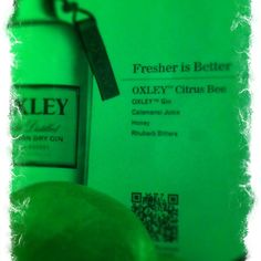 Oxley gin. Vacuum, cold-processed delicious gin.