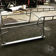 Another pic of the rack even made kustom brackets to mount rack keeping truck in stock condition#welding #diamondautoworkz