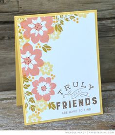 Great Friends Card by Nichole Heady for Papertrey Ink (June 2017)