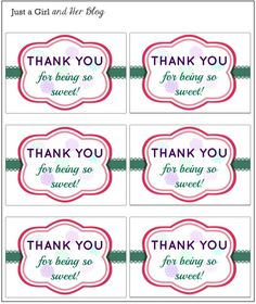 Thank You Printable Tags . 30 Thank You Printable Tags . Kate Thank You Tags Template Diy Floral Thank You Tag Kate Thank You Tag Printable, Thank You Labels, Free Printable Tags, Gift Labels, Thank You Tags, Free Printables, Appreciation Message, Teacher Appreciation Gifts, Teacher Gifts