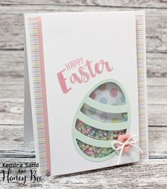 Luv 2 Scrap n' Make Cards, Shaker Card, Easter Card, Honey Bee Stamps