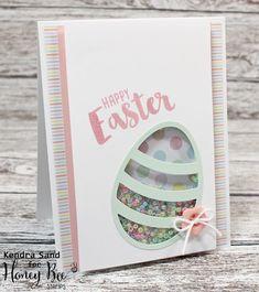 Luv 2 Scrap n' Make Cards, Shaker Card, Easter Card, Honey Bee Stamps