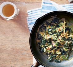 Scrambled Eggs with Spinach & Parmesan | 22 #Brunch #Recipes for a Lovely, Lazy #Morning