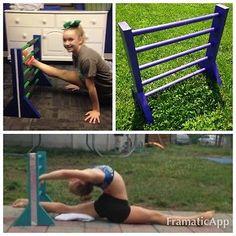 Stretch Bars Over Splits Flexible Cheer Flyer