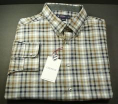 New CREMIEUX 38 Classics mens shirt XL $79.50 NWT LS  grey heather Long Sleeve #Cremieux #ButtonFront