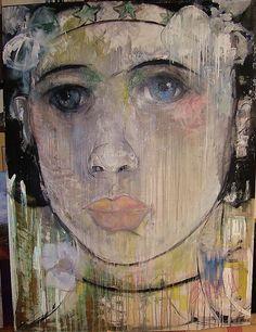 Original Oil Painting by Monique Bavaud 48x64 Beautiful