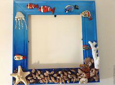 Купить рамки для фотографий - синий, картина для интерьера, фоторамка, картина в подарок, морская звезда