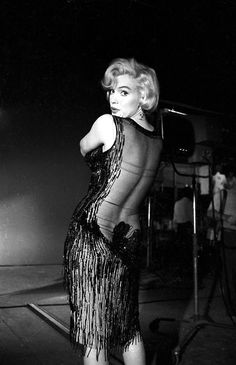 """Marilyn Monroe on the set of """"Some Like It Hot"""", (1959)."""