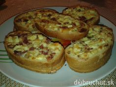 Zapekané toasty Starters, Baked Potato, French Toast, Muffin, Brunch, Yummy Food, Snacks, Baking, Breakfast