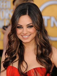 Wedding Hairstyles: All Down You can never go wrong with soft, romantic waves. And here's how you can get Mila Kunis's SAG Awards style.