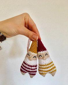 Santas little helpers by Crochet Christmas Ornaments, Christmas Knitting, Christmas Deco, Christmas Crafts, Diy Crochet And Knitting, Crochet Patterns Amigurumi, Crochet Gifts, Crochet Decoration, Crochet Projects