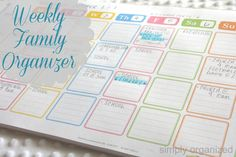Simple post-it weekly family calendar!