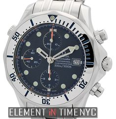 #Omega #Seamaster 300M Chronograph Diver 42mm iN Stainless Steel With A Blue Dial (2598.80.00)