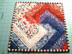 FREE Spiral Block Tutorial by Karen (at Free Quilt Patterns)