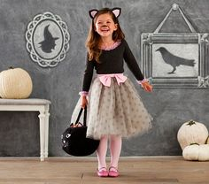 Kitty Tutu Costume | Pottery Barn Kids S wants to be a kitty like this but with a striped skirt