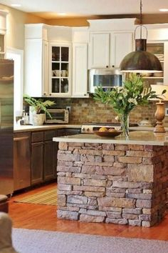 cool 49 Stunning Rustic Farmhouse Kitchen Cabinets Remodel Ideas  https://decoralink.com/2018/03/13/49-stunning-rustic-farmhouse-kitchen-cabinets-remodel-ideas/ #kitchenremodels