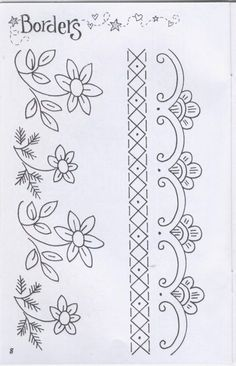 Grand Sewing Embroidery Designs At Home Ideas. Beauteous Finished Sewing Embroidery Designs At Home Ideas. Border Embroidery Designs, Embroidery Transfers, Hand Embroidery Patterns, Vintage Embroidery, Beaded Embroidery, Quilting Designs, Cross Stitch Embroidery, Machine Embroidery Designs, Embroidery Sampler