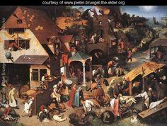 Netherlandish Proverbs 1559 - Pieter the Elder Bruegel - www.pieter-bruegel-the-elder.org