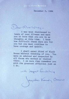 15 Best Letters from Jackie images in 2014 | Jacqueline kennedy