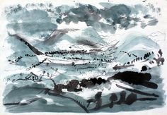 John Piper Watercolour  1955