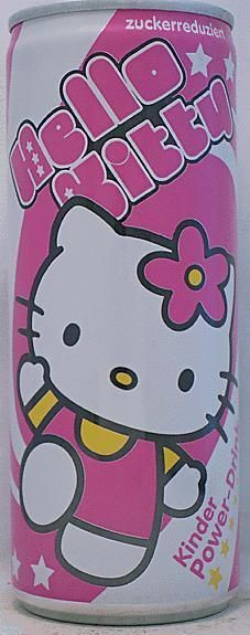 Hello Kitty Energy Drink Can - Germany