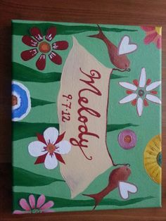 Baby girl canvas gift -KSO
