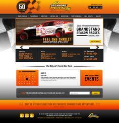 Sycamore Speedway Website  ||  Streng Design & Advertising #ResponsiveDesign #WebDesign #WebDevelopment #UIdesign #InterfaceDesign #umbraco