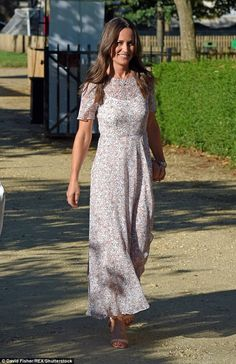 Eagle-eyed observers might have been able to spot a glint on Pippa's left hand as she walk...