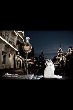 Fall wedding at Magic Kingdom