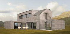 NORGES F�RSTE: I mai ferdigstilles det som trolig er Norges f�rste arkitekttegnete modulhus i Stj�rdal.