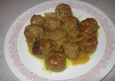 Albóndigas con champiñones al curry Arroz Al Curry, Food To Make, Sausage, Beef, Food And Drink, Chicken, Fruit, Vegetables, Cooking