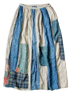 the most amazing Japanese brand!  KAPITAL / Patchwork pattern skirt / Multicoured /