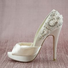 Bridal shoes. Or as I like to call them, fall on my face shoes. But they are beautiful! For more great ideas and information about our venues visit our website www.tidewaterweddings.com or give us a call 443 786 7220