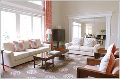 Coral And Aqua Room | Perfect Pairs - Coral and Gray | Ashley Cole Design