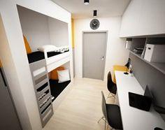 Projekt pokoju dla nastolatków - 9m2 - Mały pokój dziecka dla chłopca dla rodzeństwa dla nastolatka - zdjęcie od BIG IDEA studio projektowe