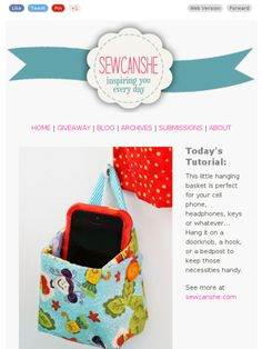Check out this Mad Mimi newsletter. Mini hanging box for you iPhone, keys or those little things.
