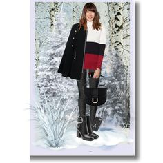 Early Winter Black and Red Outfit by sgolis on Polyvore featuring See by Chloé, Alexander Wang, A.P.C., blackandred, winterfashion, winterstyle and zazzle