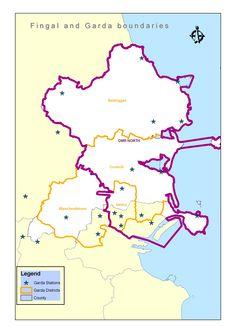 Discontinuity between Local Government and Garda boundaries Fingal