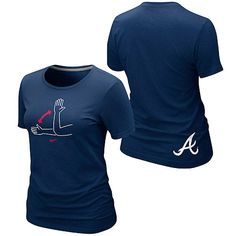 "Atlanta Braves Women's ""Tomahawk"" Local T-Shirt by Nike - MLB.com Shop"