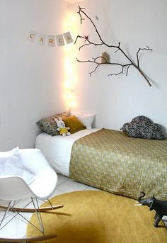 kids rooms with yellow by the style files--- so sweet 4 a handsome prince specially the lighting as his nite light..