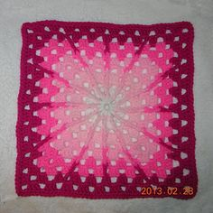 Crochet square creates ombre effect with colours